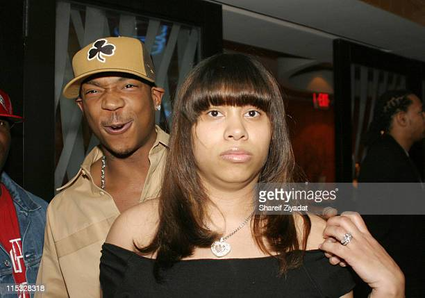 Ja Rule and Aisha Atkins during Ja Rule's 28th Birthday Party at LQ in New York City New York United States