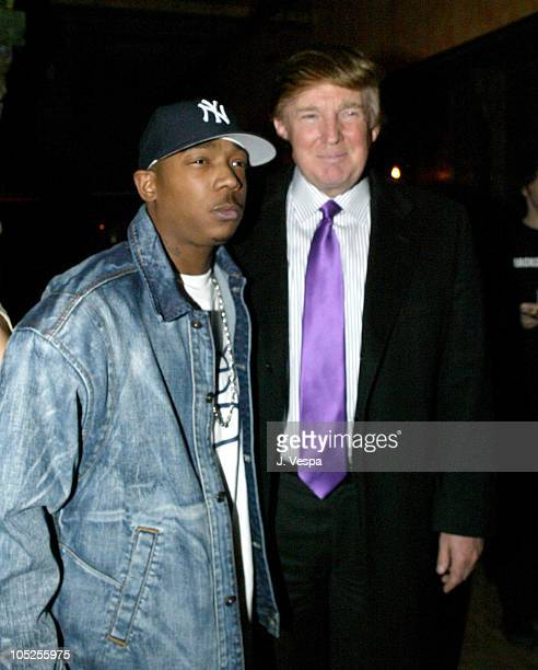 Ja Rule and Donald Trump during Victoria's Secret Backstage Sexy Photo Book Preview AfterParty at Spice Market in New York City New York United States