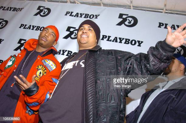 Ja Rule and Irv Gotti during Playboy's 50th Anniversary Celebration in New York City Arrivals at New York State Armory in New York City New York...