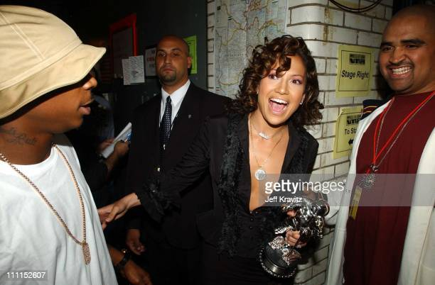 Ja Rule and Jennifer Lopez during 2002 MTV Video Music Awards Audience Backstage at Radio City Music Hall in New York City New York United States