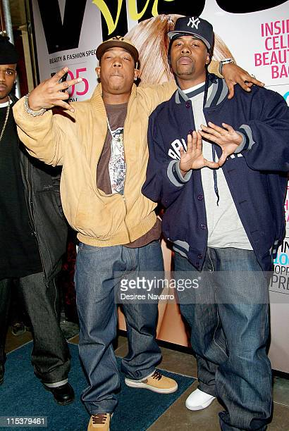 Ja Rule and Memphis Bleek during Vibe Magazine Launches its SemiAnnual Women's Magazine Vibe Vixen at Frederick's in New York City New York United...