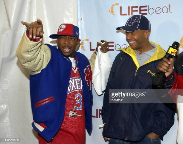 Ja Rule and Russell Simmons during LIFEBeat's Urban AID 2 Benefit Concert at Beacon Theater in New York City New York United States