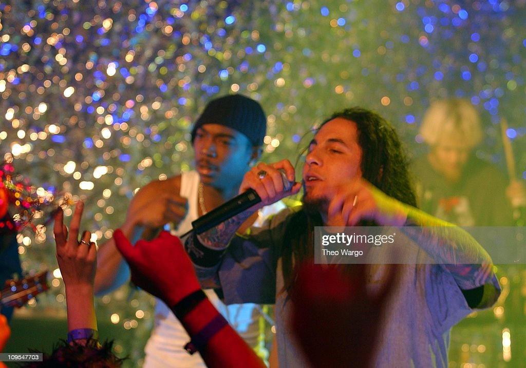 Ja Rule and Sonny Sandoval of P O D  during MTV 2002 New Year's