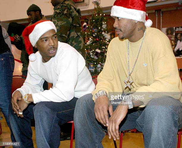 Ja Rule and Stephon Marbury of The New York Knicks
