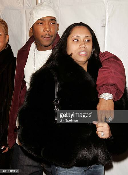 Ja Rule and wife Aisha Atkins during Assault on Precinct 13 New York City Screening Outside Arrivals at Clearview Chelsea West Cinemas in New York...