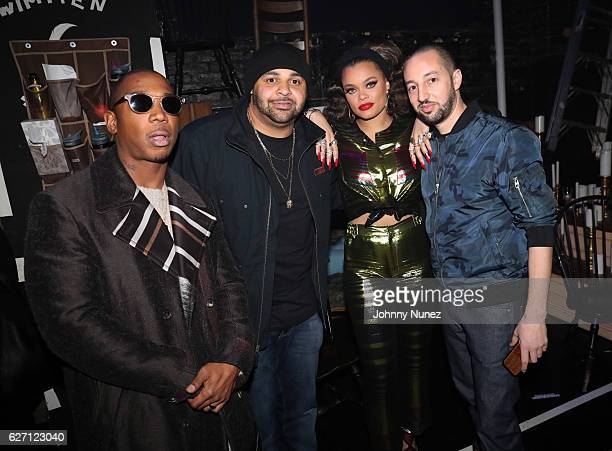 Ja Rule Joell Ortiz Andra Day and JPeriod backstage at 'The Hamilton Mixtape' Live Performance on December 1 2016 in New York City
