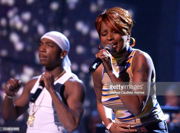 Ja Rule Mary J Blige perform during The 2nd Annual BET Awards Rehearsals Day 2 at Kodak Theater in Los Angeles California United States