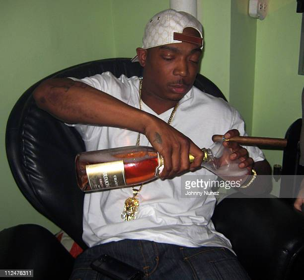 Ja Rule shoots the 'Get Money' music video at a private studio on March 20 2009 in New York City