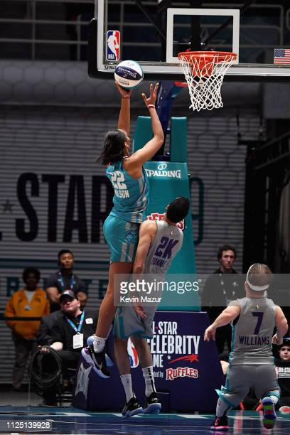 A'ja Wilson shoots the ball during the 2019 NBA AllStar Celebrity Game at Bojangles Coliseum on February 16 2019 in Charlotte North Carolina