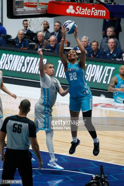 A'ja Wilson shoots the ball during the 2019 NBA AllStar Celebrity Game on February 15 2019 at Bojangles Coliseum in Charlotte North Carolina NOTE TO...