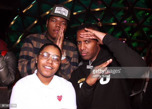 Jaak Swaggy and DJ Whoo Kid attend the Lexy Panterra PreGrammy Party at W Hotel Times Square on January 27 2018 in New York City