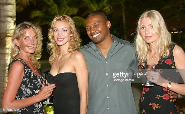 Jaanika Eha Brandon Sonnier and Merje during The 2003 Miami International Film Festival Waverly Party at Waverly Building in Miami Beach FL United...