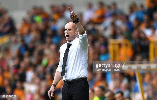 Jaap Stam manager / head coach of Reading during the Sky Bet Championship match between Wolverhampton Wanderers and Reading at Molineux on August 13...