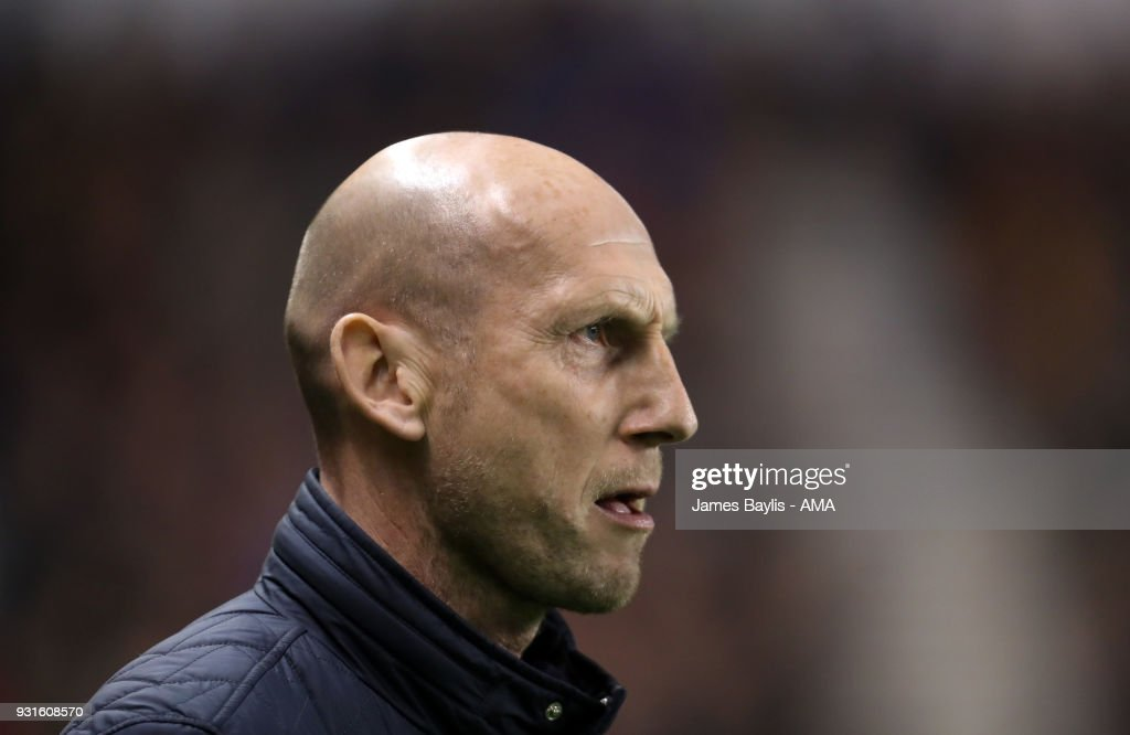 Jaap Stam manager / head coach of Reading during the Sky Bet Championship match between Wolverhampton Wanderers and Reading at Molineux on March 3, 2018 in Wolverhampton, England.