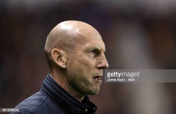 Jaap Stam manager / head coach of Reading during the Sky Bet Championship match between Wolverhampton Wanderers and Reading at Molineux on March 3...
