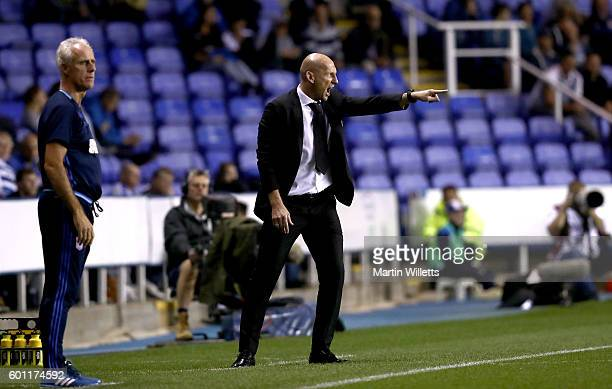 Jaap Stam manager of Reading and Mick McCarthy manager of Ipswich Town during the Sky Bet Championship match between Reading and Ipswich Town at...