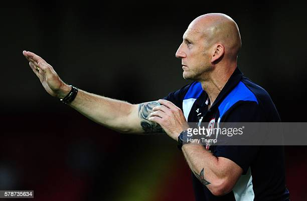 Jaap Stam Manager of Reading during the Pre Season Friendly match between Swindon Town and Reading at the County Ground on July 19 2016 in Swindon...