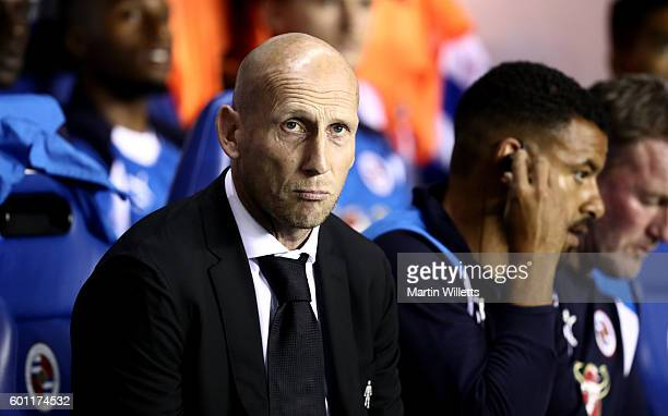 Jaap Stam manager of Reading during the Sky Bet Championship match between Reading and Ipswich Town at Madejski Stadium on September 9 2016 in...