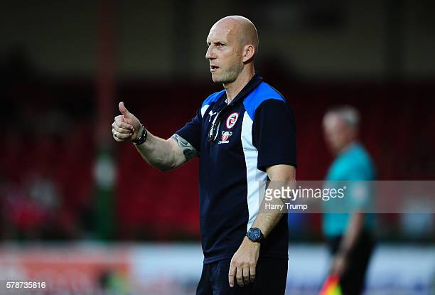 Jaap Stam Manager of Reading gestures during the Pre Season Friendly match between Swindon Town and Reading at the County Ground on July 19 2016 in...