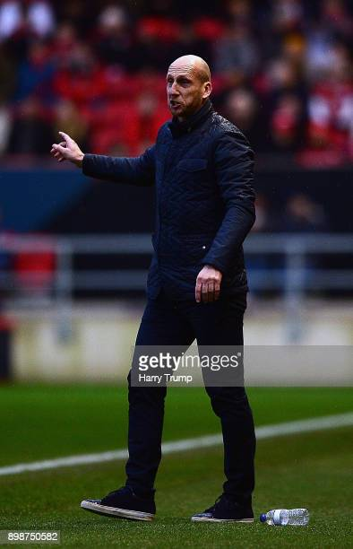 Jaap Stam Manager of Reading gives orders during the Sky Bet Championship match between Bristol City and Reading at Ashton Gate on December 26 2017...
