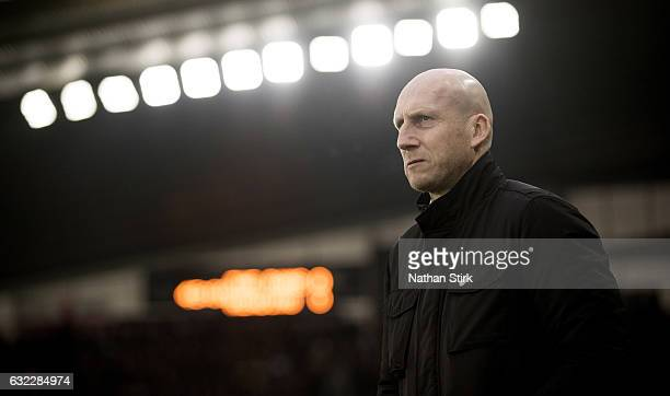 Jaap Stam manager of Reading looks on before the Sky Bet Championship match between Derby County and Reading at the iPro Stadium on January 21 2017...