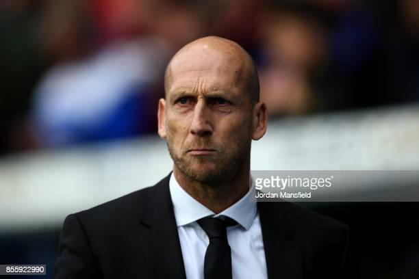 Jaap Stam manager of Reading looks on during the Sky Bet Championship match between Reading and Norwich City at Madejski Stadium on September 30 2017...