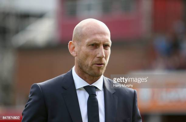 Jaap Stam Manager of Reading looks on prior to the Sky Bet Championship match between Brentford and Reading at Griffin Park on September 16 2017 in...
