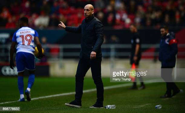 Jaap Stam Manager of Reading reacts during the Sky Bet Championship match between Bristol City and Reading at Ashton Gate on December 26 2017 in...