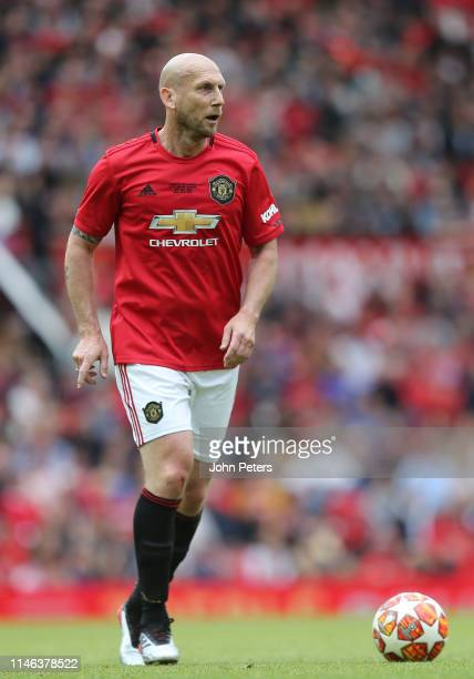 Jaap Stam of Manchester United '99 Legends in action during the 20 Years Treble Reunion match between Manchester United '99 Legends and FC Bayern...