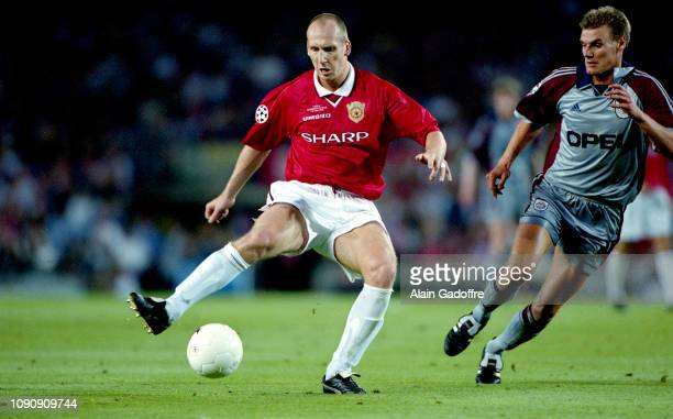 Jaap Stam of Manchester United during the UEFA Champions league final match between Manchester United and Bayern Munich on May 26 1999 in Camp Nou...