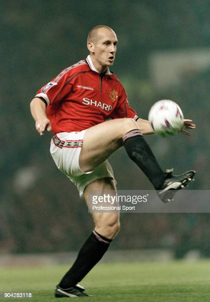 Jaap Stam of Manchester United in action during the FA Carling Premiership match between Manchester United and Liverpool at OId Trafford on September...