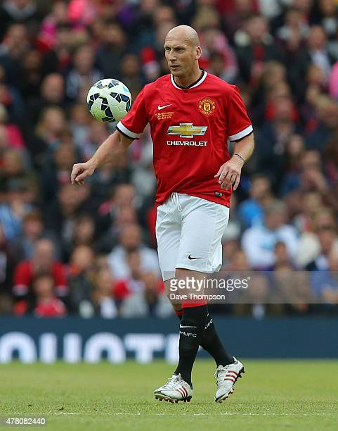 Jaap Stam of Manchester United Legends during the Manchester United Foundation charity match between Manchester United Legends and Bayern Munich All...