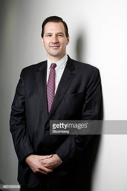 Jaap Tonckens chief financial officer of UnibailRodamco SE poses for a photograph following a Bloomberg Television interview in London UK on Thursday...