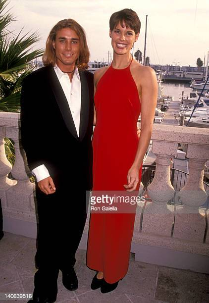 Jaason Simmons and Alexandra Paul at the 100 Episode Celebration of 'Baywatch' RitzCarlton Hotel Marina Del Rey