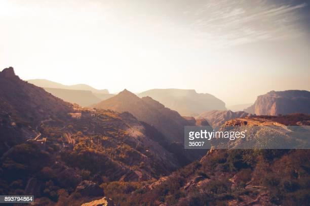 gama de la montaña de jabal akhdar, omán - oman fotografías e imágenes de stock