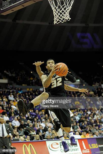 Jabari Brown of the Missouri Tigers shoots against the LSU Tigers during a game at the Pete Maravich Assembly Center on January 21, 2014 in Baton...