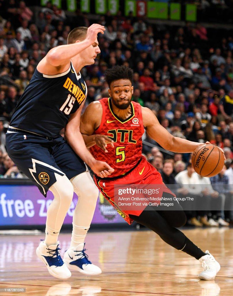 DENVER NUGGETS VS ATLANTA HAWKS, NBA REGULAR SEASON : News Photo