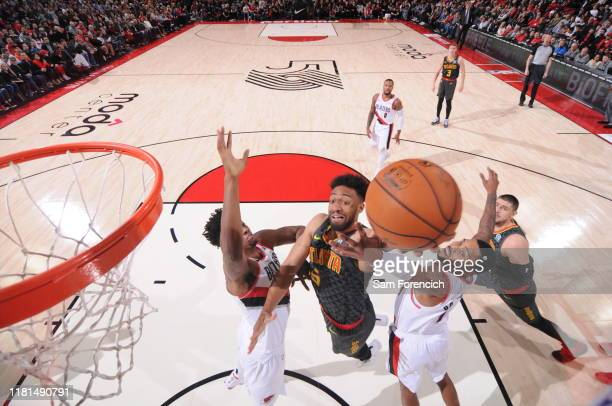 Jabari Parker of the Atlanta Hawks shoots the ball against the Portland Trail Blazers on November 10 2019 at the Moda Center Arena in Portland Oregon...
