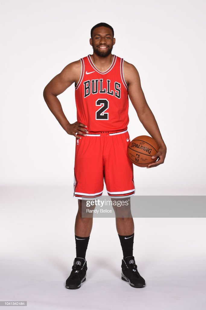 best authentic 7f24e fa696 Jabari Parker of the Chicago Bulls poses for a portrait at ...
