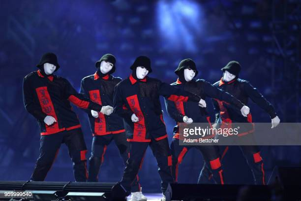 Jabbawockeez perform at Pulse Twin Cities at US Bank Stadium on May 18 2018 in Minneapolis Minnesota