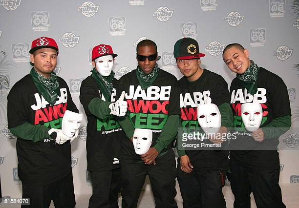 Jabbawockeez pose for press at the 19th Annual MuchMusic Video Awards on June 15 2008 at Chum/City Building in Toronto Canada