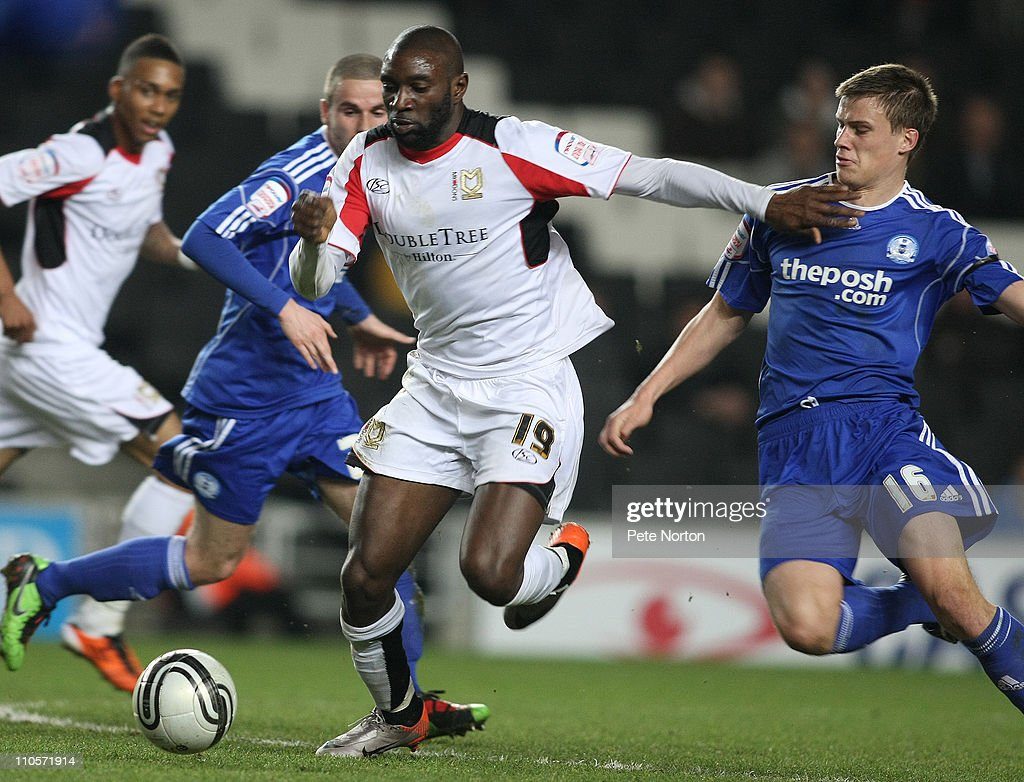 MK Dons v Peterborough United - npower League One : News Photo