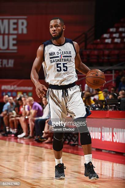 Jabril Trawick of DLeague handles the ball Milwaukee Bucks during 2016 Summer League on July 10 2016 at the Thomas Mack Center in Las Vegas Nevada...
