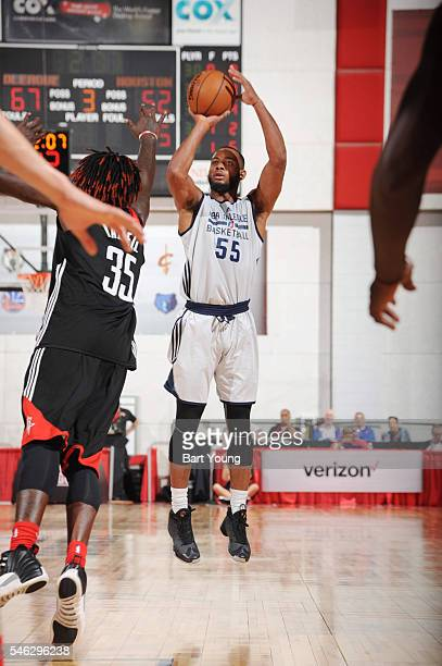 Jabril Trawick of the NBA DLeague Select shoots the ball against the Houston Rockets during the 2016 NBA Las Vegas Summer League game on July 11 2016...