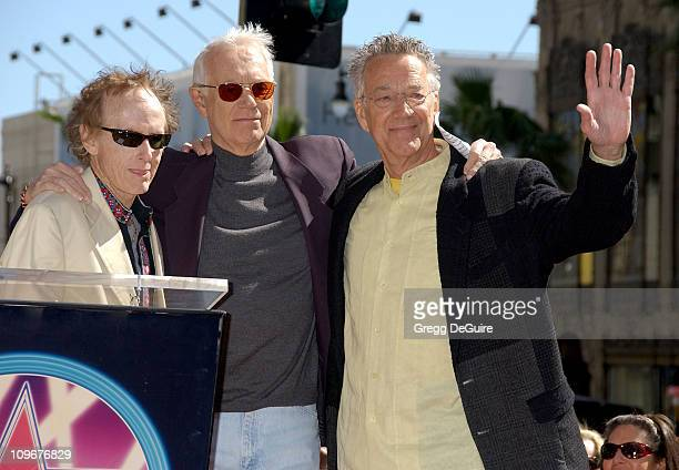 Jac Holzman founder of Elektra Records with Robby Krieger and Ray Manzarek of The Doors