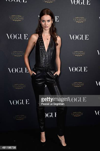 Jac Jagaciak attends the Vogue 95th Anniversary Party on October 3 2015 in Paris France