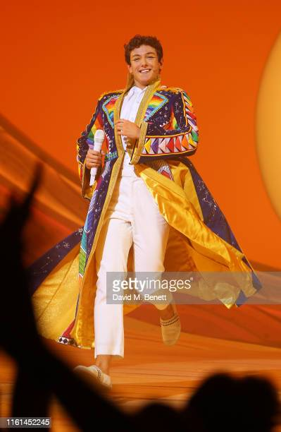 Jac Yarrow attends the press night performance of Joseph And The Amazing Technicolor Dreamcoat at The London Palladium on July 11 2019 in London...
