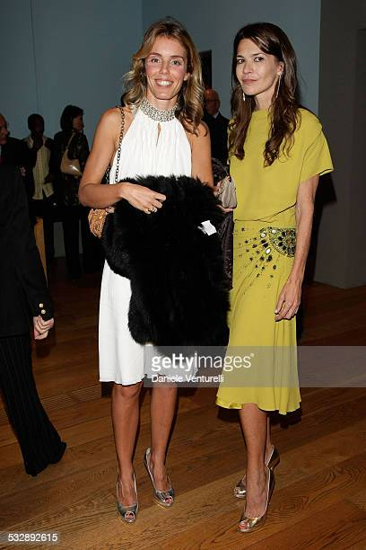 Jacaranda Falk and Carla Maria Orsi Carbone attend the 'Why Africa' exhibition opening At the Pinacoteca Giovanni E Marella Agnelli on October 5 2007...