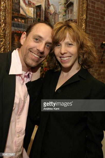 Jace Alexander and wife Maddie Cornman pose at a cocktail hour held before Our Time Theatre Company's 2nd Annual Benefit Gala honoring Dr Alan...