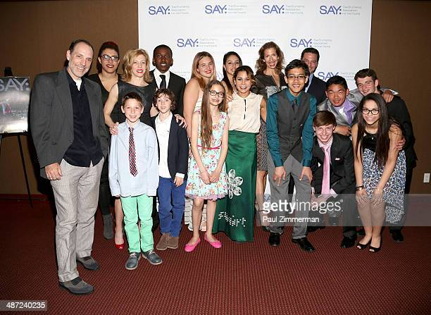 Jace Alexander Maddie Corman Alysia RubinVega David Allen Bosche and members of SAY Kids Teens attend the 12th annual SAY Benefit at Jack H Skirball...
